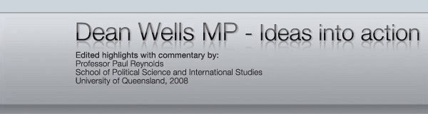 Dean Wells - Ideas and action (top banner image)